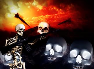 War Skeleton War Background