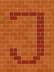 the letter i from alphabet set, seamlessly brickwall tile