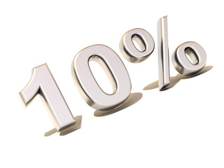 ten percent. Silver. 3d