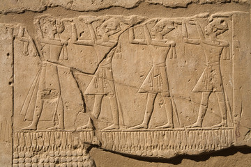 A photo of ancient egyptian script in Luxor, Egypt