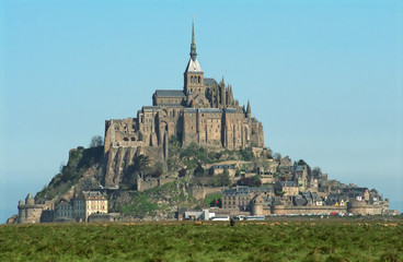 Mont Saint-Michel and lambs - France - Europa