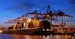 Hafen, Containerschiff, Export