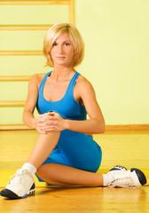 Beautiful fitness trainer