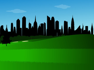 City golf course