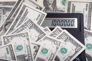 one million dollars on calculator