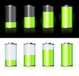 Piles avec charges variées poster