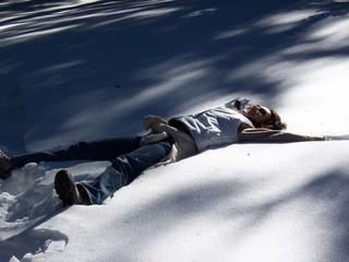 Repos dans la neige