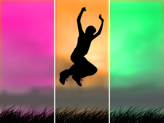 Jump over the grass
