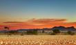Colorful sunset in Kalahari Desert, Namibia