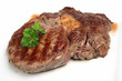 Rare rib-eye steak