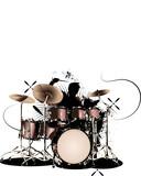 Fototapety Drummer-Illustration