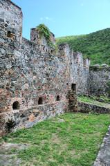 Ruins at Annaberg Plantation in the US National Park at St. John