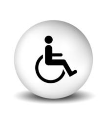 Handicap Symbol - white