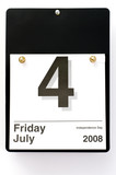 Office Calendar Depicting July 4th