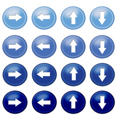 Blue Button arrow icons