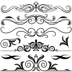 Decorative Elements A - black & white illustrations