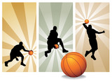 Vector Basketball Players - Easy change colors. poster