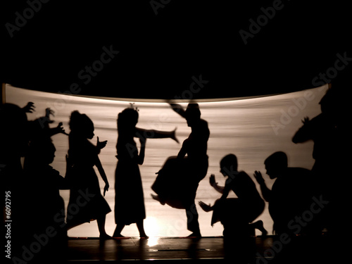 Foto op Plexiglas Indonesië Indonesian shadow play