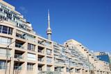 modern Toronto condominium and CN Tower poster