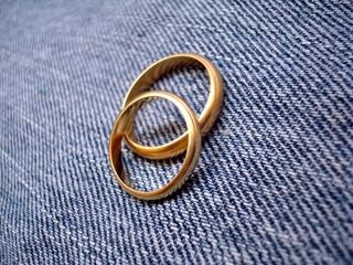 Wedding Rings On Denim