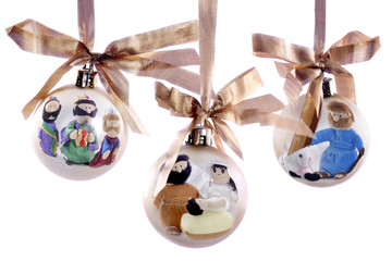 Three Nativity Bulbs