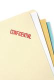 Manila file folder stamped