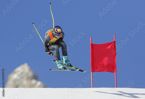 Foto op Canvas Wintersporten Ski