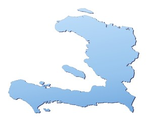 Haiti map filled with light blue gradient