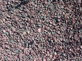 Crushed stone, pinr and grey