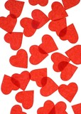 Red Heart Confetti poster
