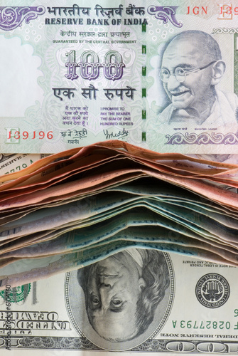 indian and american banknotes