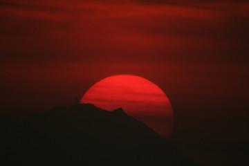 sole al crepuscolo