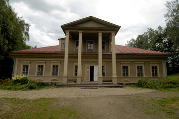 The main building in Flyonovo, old russian village-museum.