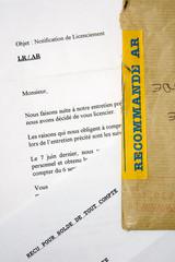 Travail et entreprise - Lettre de licenciement