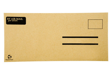 Envelope cover isolated over white background