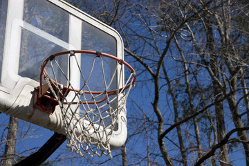 Basketball Goal in Park