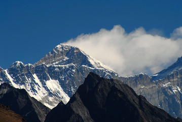 Mt.Everest - with jet stream