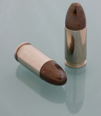 round nose bullets on 9 mm luger ammo