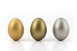 gold, bronze and silver egg