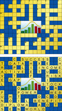 Empty and solved business crossword poster