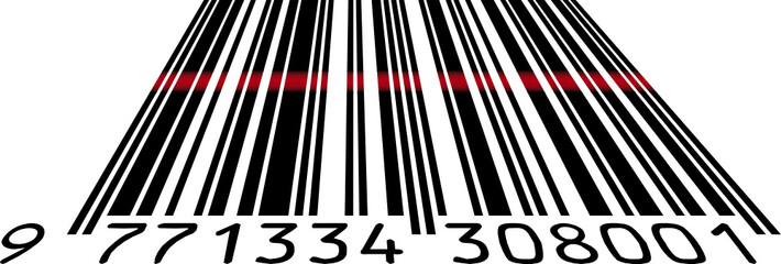 Scanned bar code