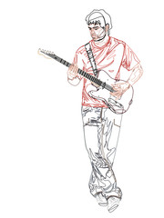 Guitariste outline