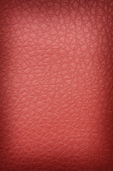 bright red crackled leather
