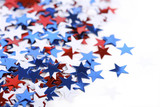 Star shaped confetti - Election or 4th of july background poster