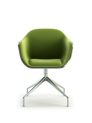 modern armchair 3D isolated on white background