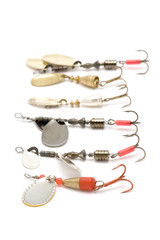 object on white - minnow with fish-hook