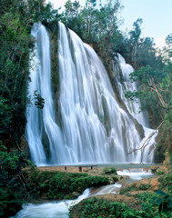 Jungle waterfall in Dominicana