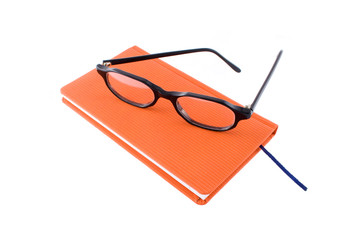 red calendar and black glasses