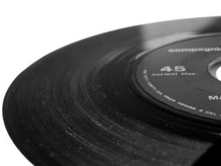 45 rpm single music record