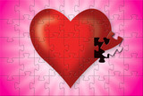 incomplete without you, jigsaw puzzle heart poster